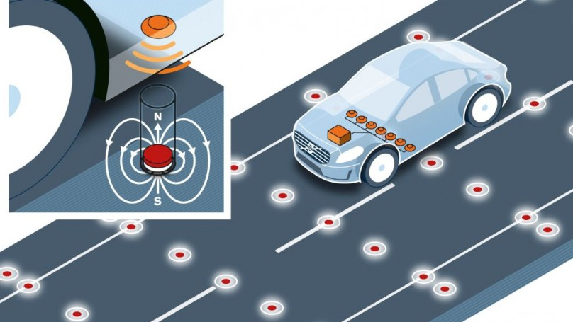Self Driving Cars: Volvo Tests Road Magnets for Accurate Positioning