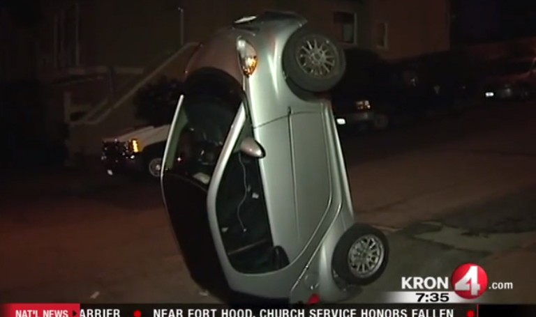 Smart car tipping a new crime wave in California