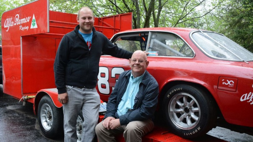 Father, son go vintage racing together