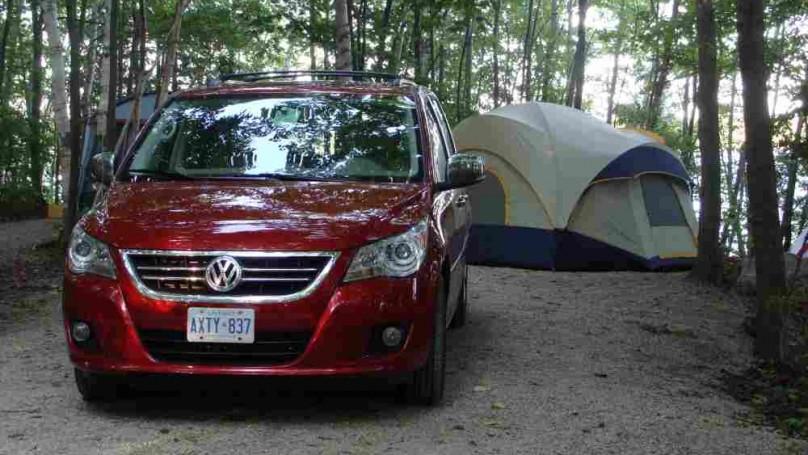 a Volkswagen Routan makes an excellent camping minivan.