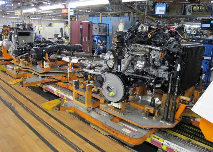 FCA Brampton assembly line