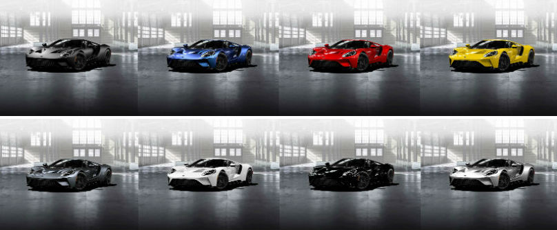 Ford Gt Colours Chosen For Individuality