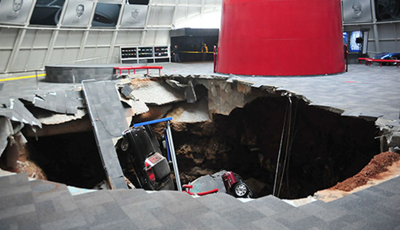 Corvette Sinkhole: Amazing security camera footage