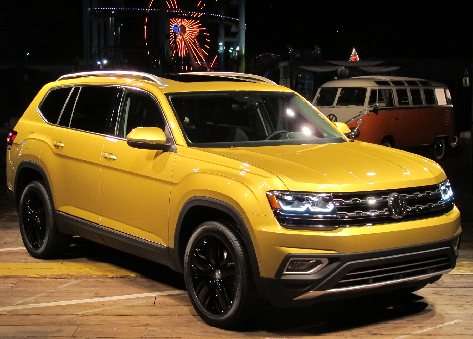 Volkswagen has unveiled the 2018 Atlas, a seven-seat SUV which is ...