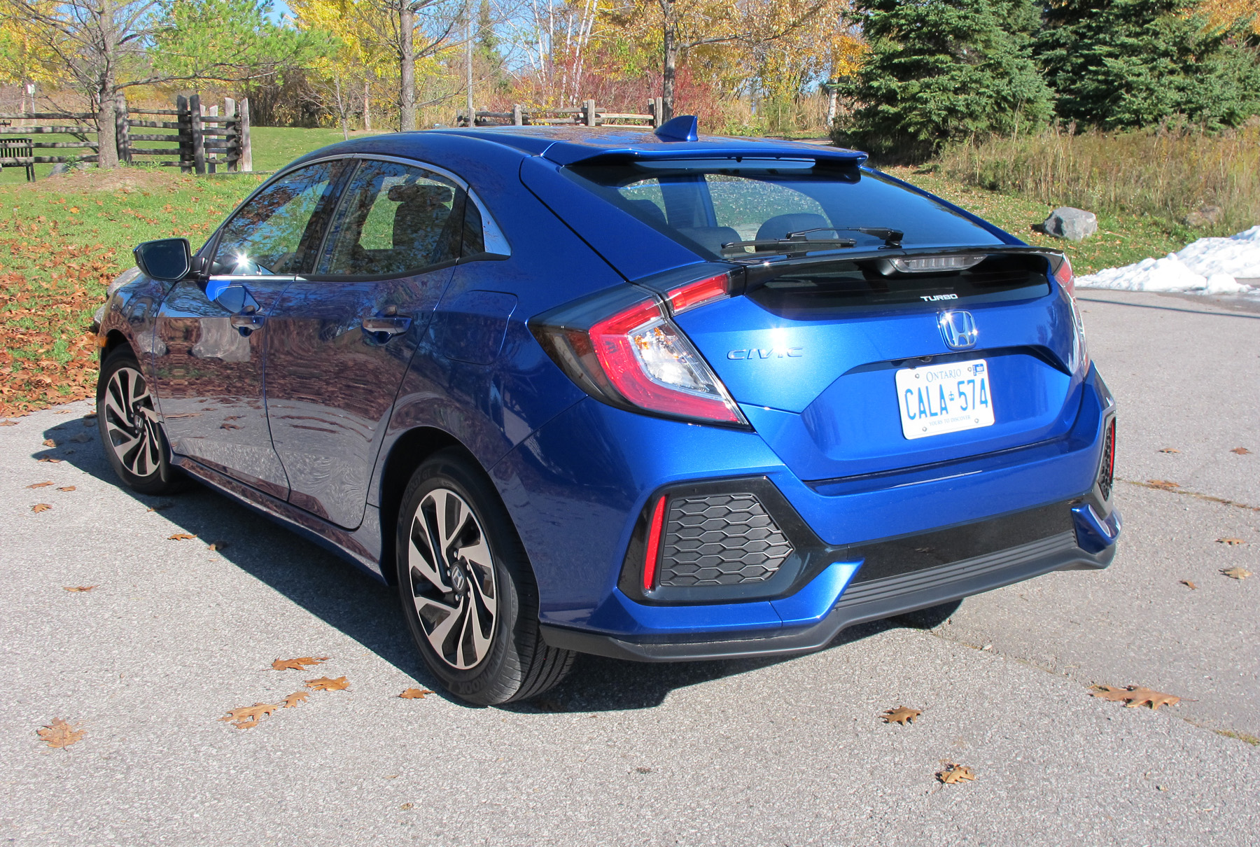 The Highly Styled Rear Of The 2017 Civic Hatchback Has Two Spoilers To  Decrease Airflow Drag. H