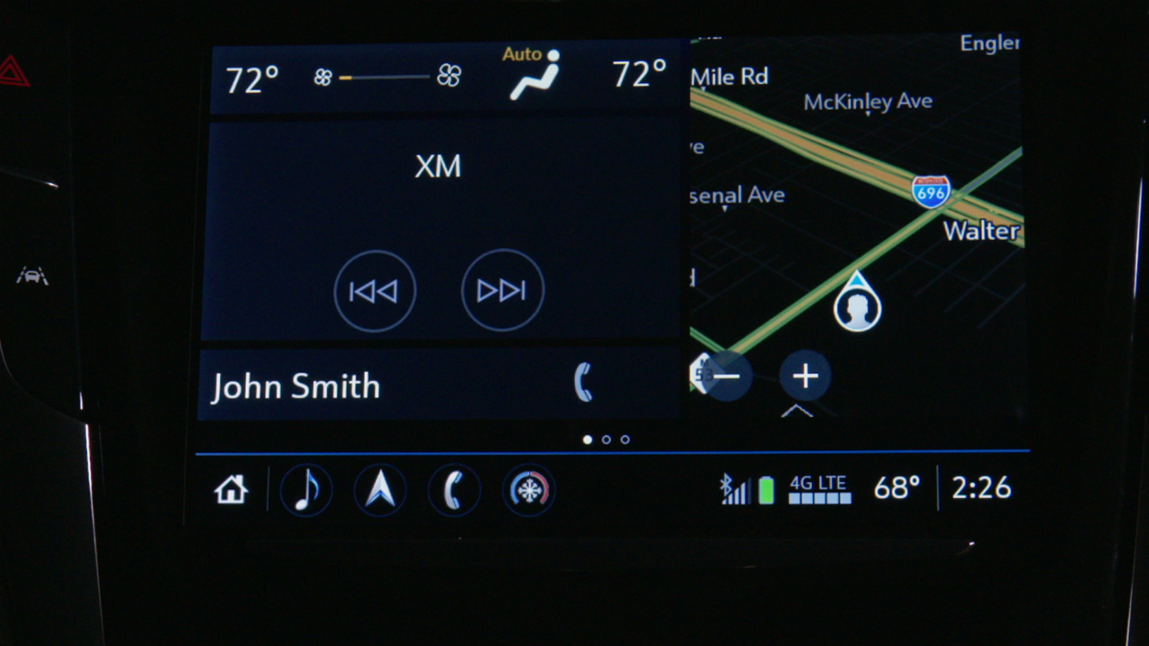 Cadillac CTS interface