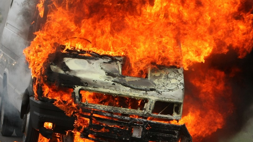 Representative image for vehicle on fire