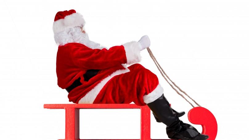 santa on sled