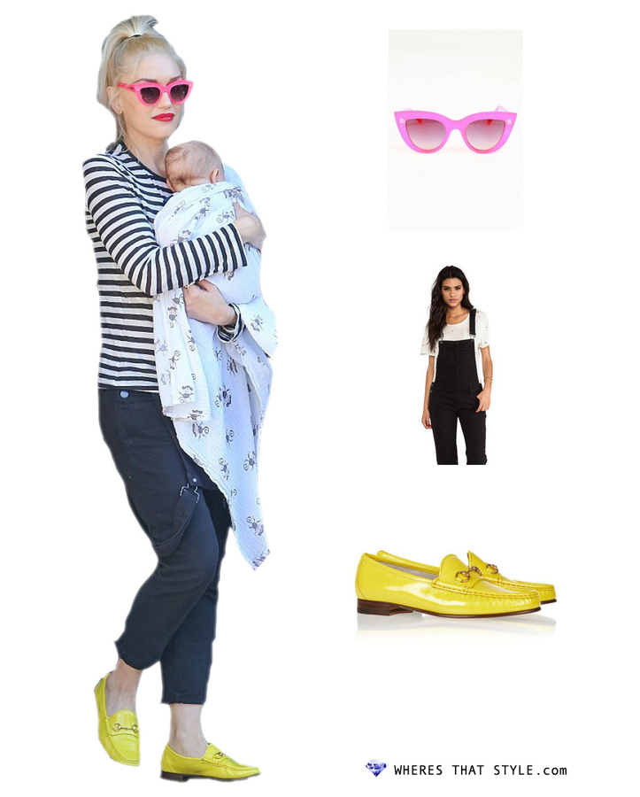 Gwen stefani wearing quay eyeware kitty sunglasses in pink
