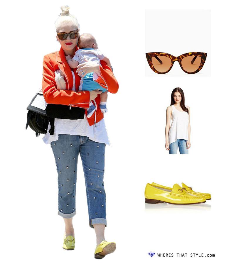 Gwen stefani wearing quay kitti shades tortoise