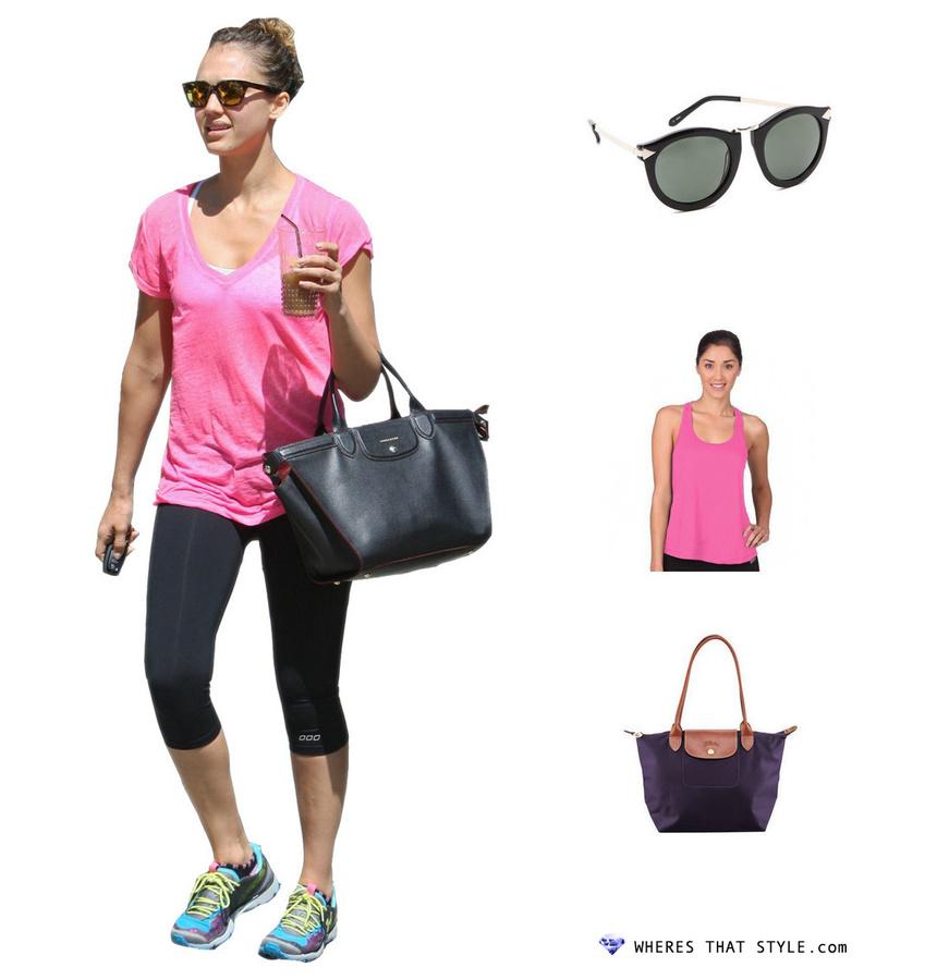 Jessica alba wearing karen walker the harvest sunglasses black
