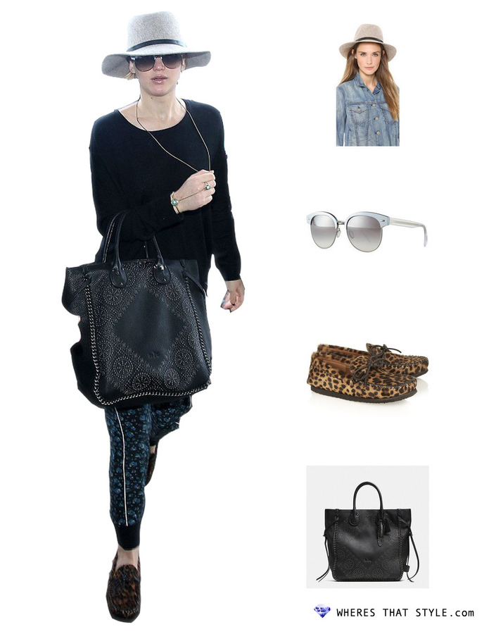 Jennifer lawrence wearing oliver peoples shaelie mirrored semi rimless sunglasses