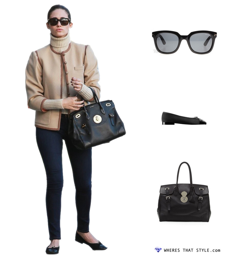 Emmy rossum wearing tom ford campbell black tom ford sunglasses 0198 01a uk