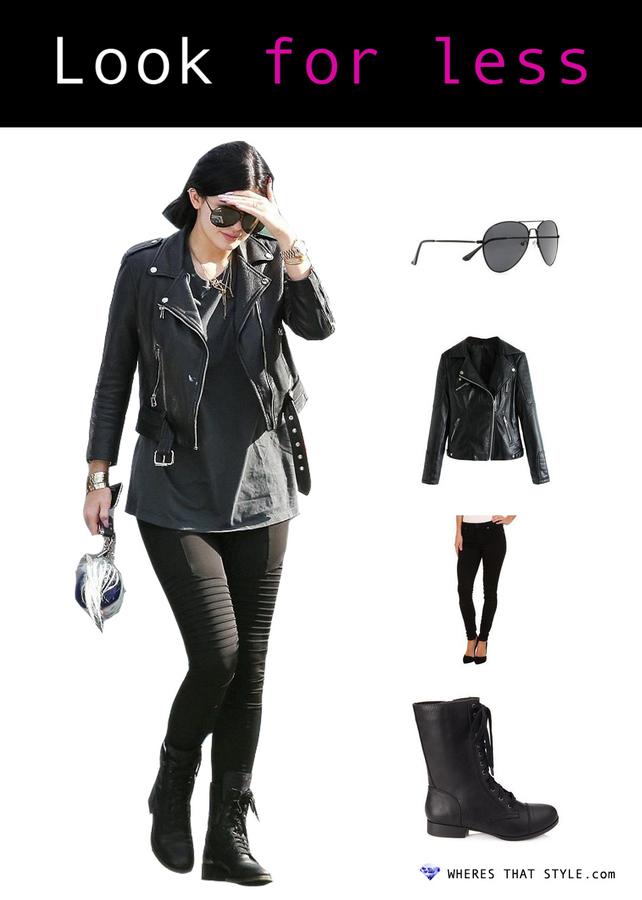 Kylie jenner wearing missguided elma aviator sunglasses