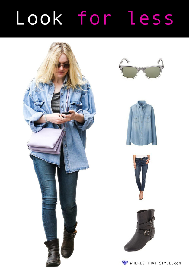 Dakota fanning wearing bcbgmaxazria women s multi fashion sunglasses