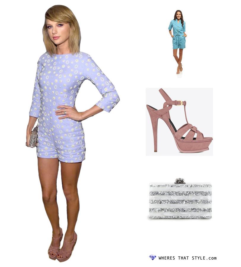 Taylor swift wearing live a little women s elastic romper