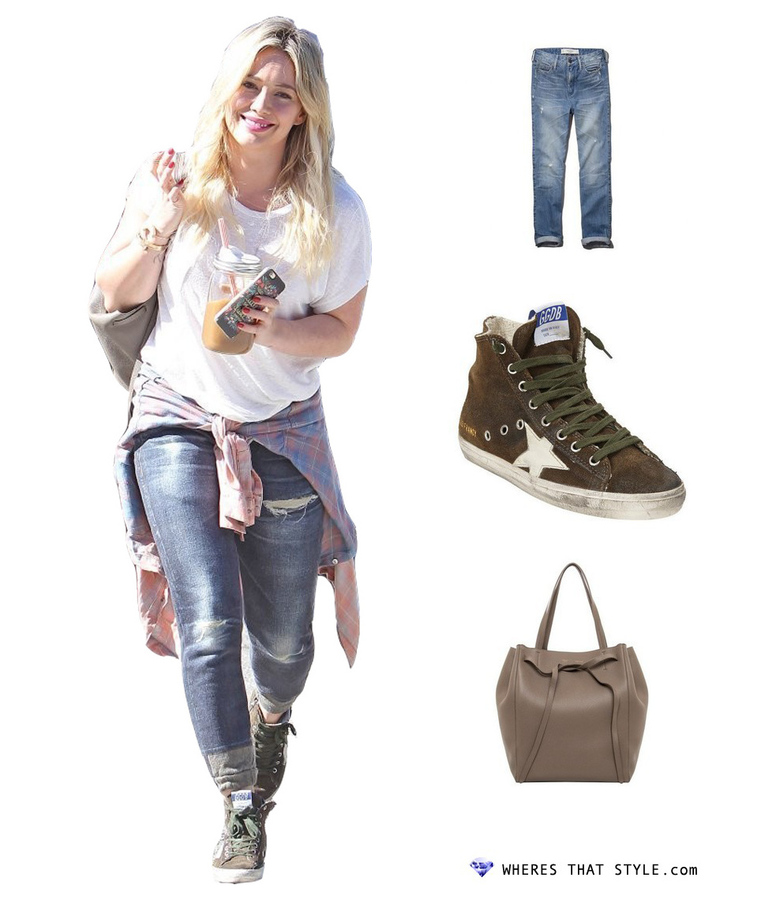 Hilary duff wearing abercrombie fitch a f allie boyfriend high rise jeans