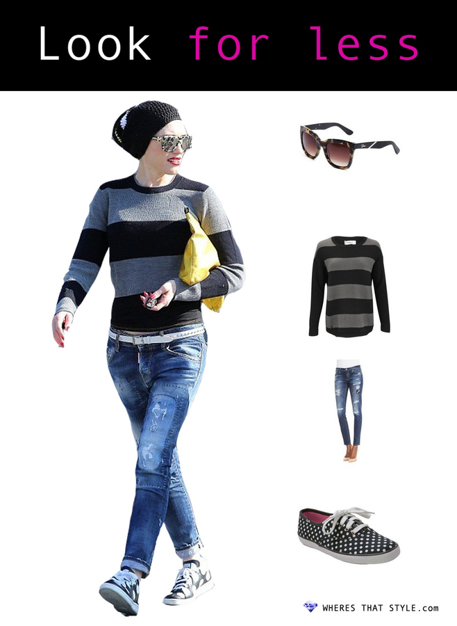 Gwen stefani wearing guess julia square tortoiseshell sunglasses