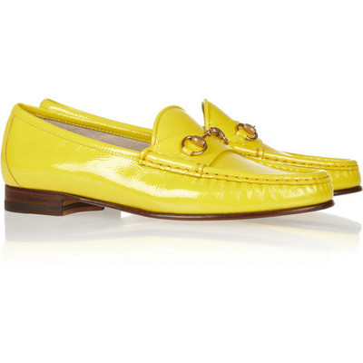 Gucci horsebit loafers in yellow