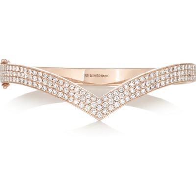 Anita ko 18 karat rose gold diamond bracelet