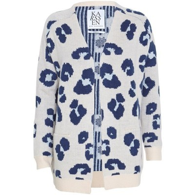 Zoe karssen leopard cashmere cardigan