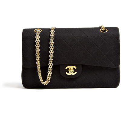 Chanel vintage black jersey quilted chanel 2
