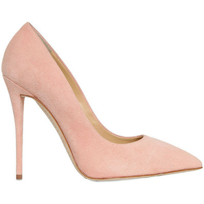 Giuseppe zanotti 120mm suede pointed toe pumps   rose