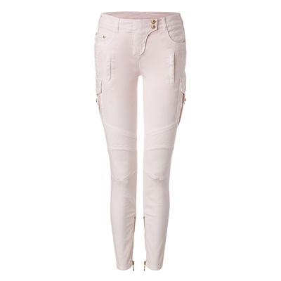 Balmain skinny cotton moto pants