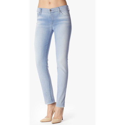 7 for all mankind slim cigarette in sky breeze blue
