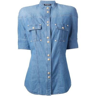 Balmain denim shirt (short sleeve)