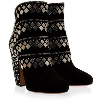 Ala%c3%8fa stud and zip ankle boots