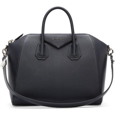 Givenchy navy sugar leather antigona medium duffle bag