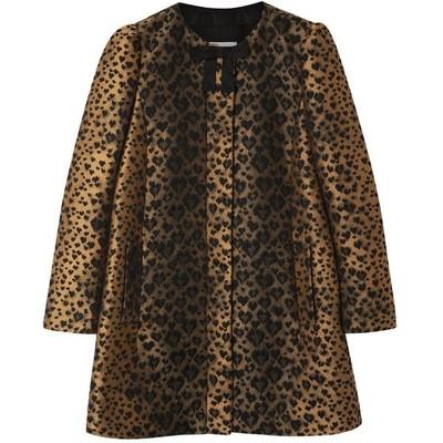 Red valentino leopard jacquard coat