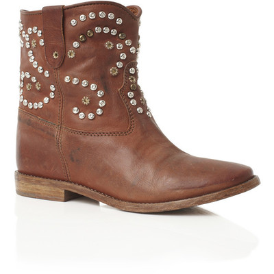 Isabel marant: cognac caleen studded boot