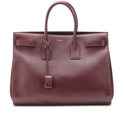 Saint laurent sac de jour leather tote