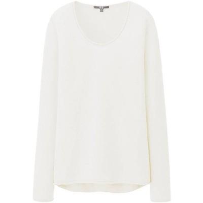 Uniqlo women light cashmere round neck sweater