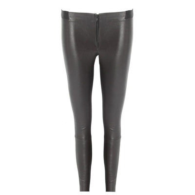 Alice olivia front zip leather leggings