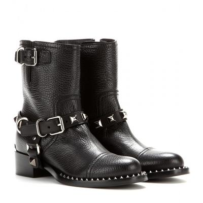 Miu miu studded motorcycle boots