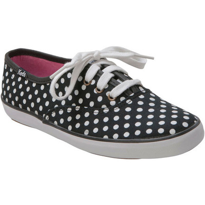 Keds womens champion dot black canvas sneaker