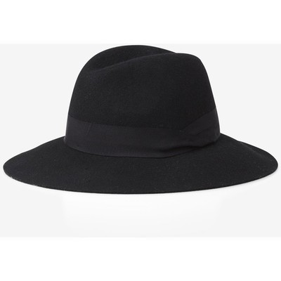 Express black wool felt fedora hat