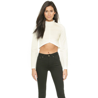 Re:named cropped long sleeve blouse   off white