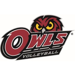 Set, spike, sweep: The owls defeated Tulsa 3-0 on Friday, Nov. 20. The team is set to play SMU this Sunday and wrap up their season Friday, Nov. 27 against East Carolina. (Photo courtesy of Temple Volleyball's Twitter page @Temple_VB)