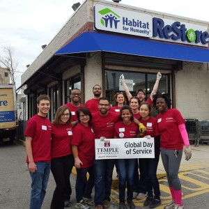 Temple and Drexel students and alumni came together over the weekend to volunteer at Habitat for Humanity's ReStore, which benefits low-income individuals and families in the Philadelphia area. Volunteers helped clean and organize furniture to be sold at discounted rates for those in need. (Photo by: Izzy Uknis)
