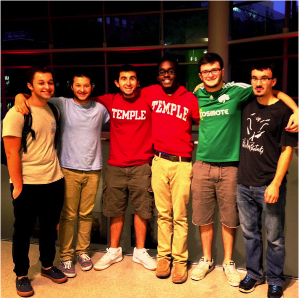 From left to right: (Ethan Fisher, Josh Fisher, Jon Tomaro, Chris Lewis,  Panayoitis Dimopoulos, Liam Werner)