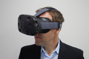 The HTC Vive in use. (Photo credit: Wikipedia)