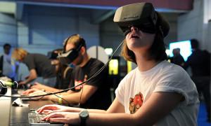 Oculus Rift in use (Photo credit: Flickr user BagoGames)