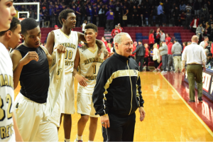 All smiles from Neumann after their win. (Photo by: Devin Fonrose)
