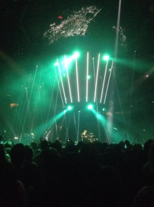 Muse wowed their crowd on Jan. 31 with their team's use of drones amidst strobe lights and confetti. (Photo by Siena Sohn)
