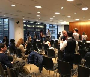 A group from Temple's School of Media and Communication (SMC) attended an event in New York City, which spotlighted professional alumni. (Photo credit: Nathan Weaver)