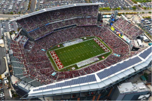 The football stadium for Temple has been approved, but not everyone is in agreement as to whether or not the project is a good one. (Photo credit: CLTV)